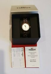 Tissot Pr100 Mid-size Rose Gold Plated Silver Dial Watch T101.210.33.031.01