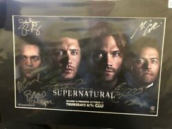 Sdcc Supernatural Season 14 Official San Diego Comic Con Signed Poster
