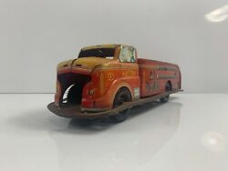 Vintage Louis Marx Co Toys Tin Fire Truck Litho Friction Truck
