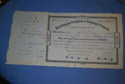 New England Telephone And Telegraph Co. Sign By Theodore Vail 1st Presi. Of Atandt