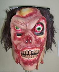 Adult Les Skinner Fractured Faces Zombie Evil Scary Latex Mask Costume Pm568021