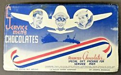 1943 Wwii Empty Servicmenand039s Chocolates Box Lasalle Candy Co. Missouri Home Front