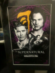 Sdcc Supernatural Official San Diego Comic Con Signed Poster