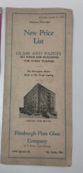 C1927 Pittsburgh Plate And Glass Company Brochure Flyer St. Louis Mo.