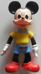 Vintage Big Rubber Toy Squeak Walt Disney Mickey Mouse Ledra Made In Italy 1962