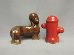 21 Vintage Dachshund And Water Hydrant Salt And Pepper Shakers