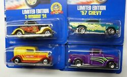 Hot Wheels Malt O Meal Rare Full Set Of 4 And03957 Chevy And03956 Flashsider And03932 And03934 Ford