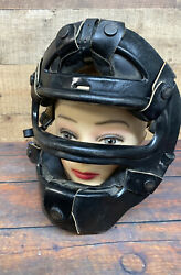 Antique 50andrsquos Southern Athletic Fm-50 Baseball Catchers Face Mask Leather Pads