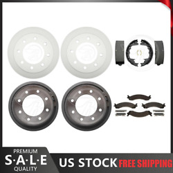 Fits 2001 Dodge Ram 3500 Van Coated Brake Rotors Brake Pads Brake Drums And Shoes