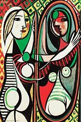 Girl Before A Mirror 1932 By Pablo Picasso 24x16 Museum Art Print