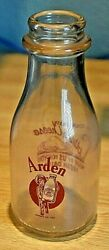 Vintage Arden Farm Milk Or Cream Bottle One Pint Liquid Pre-owned Collectible