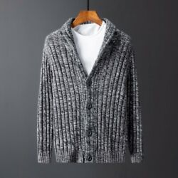Men Sweaters Cardigan Knitwear Button Slim Knitted Leisure Coat Hot Sale Casual