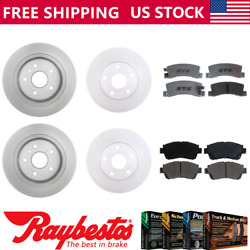 For 1992-1995 Toyota Camry Front Rear Kit Coated Brake Rotors And Ceramic Pad Set