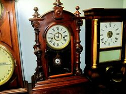 Vintage Welch Patti Vp Rosewood Mantle Clock 19 Inches