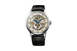 Orient Star Skeleton Dx02002s Flagship Watch New Leather Hand Wound Mechanical