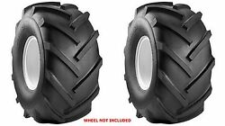 Two 18x9.50-8 Carlisle R-1 Super Lug Tires Tubeless Tires Only
