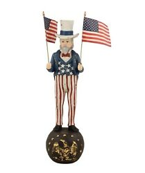 Bethany Lowe 12 Uncle Sam With Flags Td5018