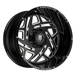 American Truxx At1904 Cosmos 22x12 5x139.7/5x150 Et-44 Black/milled Qty Of 4