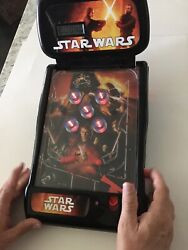 2009 Star Wars The Force Awakens Tabletop Pinball Machine Light Up Sound Effects
