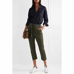 3x1 Nyc Vic Cropped Straight Leg Pant Womenand039s Size 26 High Rise Button Front