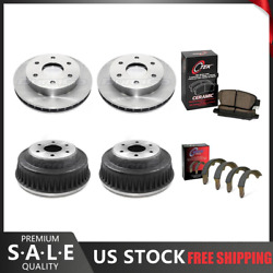 Fits 1988 Chevrolet K2500 Brake Rotors And Ceramic Pads + Brake Drums And Shoes
