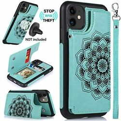 Caseowl Iphone 11 Caseiphone Wallet With Card Holderrfid Blockingkick Leather