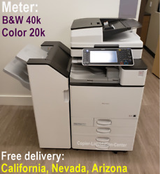 Ricoh Mp C4503 Mpc4503 Color Copier Print Scan 45 Ppm - Low Meter And039jo