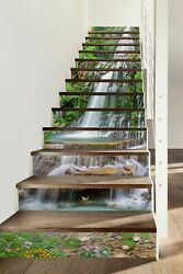 3d Waterfall Lake 560na Stair Risers Decoration Photo Mural Decal Wallpaper Fay