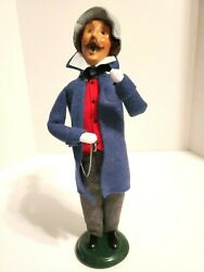 Byers Choice Carolers Traditional Adult Man With Stopwatch 2003 Limited Edition