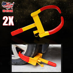 2x Wheel Lock Clamp Boot Tire Claw Trailer Car Truck Anti-theft Towing Protector