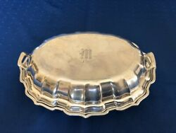 Frank Smith Sterling Chippendale Covered Vegetable 10 X 3 1/2