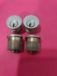 Schlage Everest S123 Mortise Cylinder 626 Lot Of 4 - 0 Bitted
