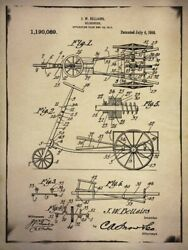 Art-print-gi-artlab-vintage-bicycle-patent-4-buff-on-paper-canvas-or-framed
