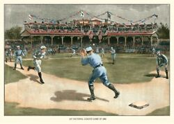 Art-print-snyder-fashion-national-league-game-1886-on-paper-canvas-or-framed