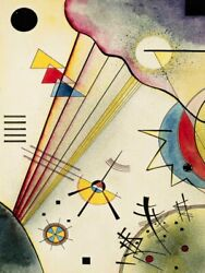 Art-print-kandinsky-abstract-clear-connection-on-paper-canvas-or-framed