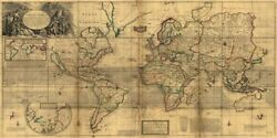 Art-print-moll-vintage-a-new-and-correct-map-of-the-whole-world-1719-on-paper-c