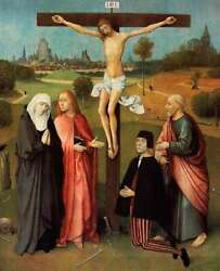 Art-print-bosch-museo-calvary-with-donor-on-paper-canvas-or-framed