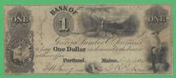 1843 Bank Of Georgia Lumber Co. Maine 1 Obsolete Note 3921