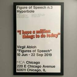 Rare Virgil Abloh Figures Of Speech Mca Poster Set 7 Off-white Sold Out