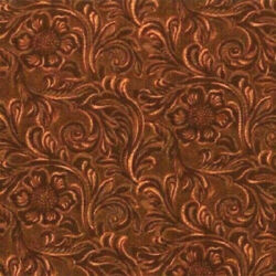 Moda Fabrics with 11216 15quot;Tooled Leather patternquot;SADDLE BROWNquot;BY THE yard
