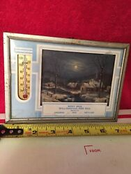 Berry Brothers Williamsville Feed Mill Advertising Thermometer Groceries Vintage