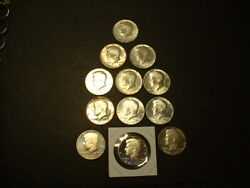 1967-1976-s 40 Silver Clad Kennedy Half Dollars 6.00 Face Unc. And Proof