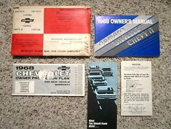 1968 Chevelle Ss Coupe Gm Factory Original Owners Manual Set W/folder