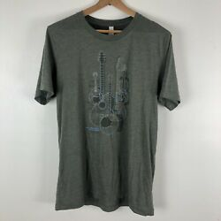 Old Town School Of Music, M Mens Chicago Graphic Tee Short Sleeve Green 0633