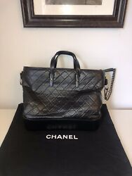 2018 Extra Large Gabrielle Shopping Tote Bag Blackandnbspauthentic Carried 3x