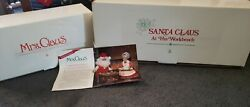 Danbury Mint Vintage Santa W/workbench And Mrs. Claus...new/other