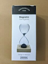 Magnetic Sand Glass Home Decorative Clock Timer Magnet Sandglass Toy Fun Gift