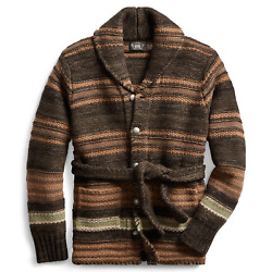 Rrl Wool Belted Blanket Ranch Long Cardigan Menand039s All Sizes Wool