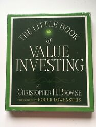 The Little Book Of Value Investing By Christopher H. Browne 4 Cds Brand New Rare