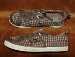 Dc Mint Green Beige Brown Skate Shoe Womenand039s Size 7